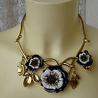 Ожерелье женское колье модное металл ювелирная бижутерия 4167