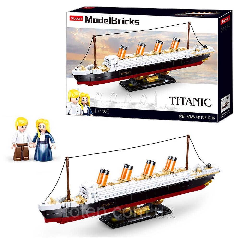Конструктор SLUBAN M38-B0835 Титаник, 2 фигурки, 481 деталь