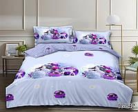 Новогоднее постельное белье евро размер из ранфорса Игрушки R842