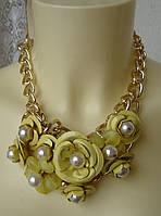 Ожерелье женское колье модное металл ювелирная бижутерия 4171