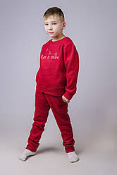 Теплая новогодняя пижама для мальчика