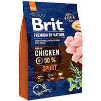 Brit Premium Dog Sport (Брит Премиум Спорт) для взрослых собак с высокими физическими нагрузками 3 кг