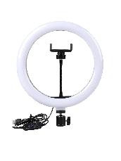 Селфи Лампа с Штативом 26 см Ring Fill Light 200 см 10 Вт 5500К - 3200К Кольцевой Свет LED Светодиодная, фото 2