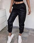 """Утепленные кожаные штаны на флисе """"Маркус""""  Батал, фото 7"""