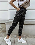 """Утепленные кожаные штаны на флисе """"Маркус""""  Батал, фото 9"""