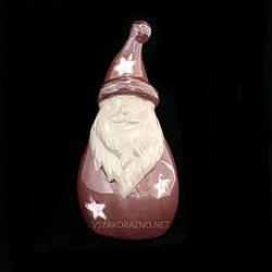 Статуетка гном с подсветкой Led розовый