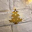 Новогодняя гирлянда елочки золотая 20 Led 3 метра на батарейках, фото 2