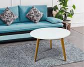 Стіл журнальний в скандинавському стилі Ерік ясен Модуль люкс, колір стільниці білий