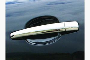 Накладки на ручки (4 шт, нерж.) OmsaLine - Итальянская нержавейка - Citroen C-4 2005-2010 гг.