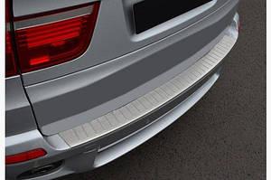 Накладка на задний бампер OmsaLine (нерж.) - BMW X5 E-70 2007-2013 гг.