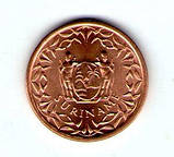 Суринам 1 цент 1988 №207, фото 2