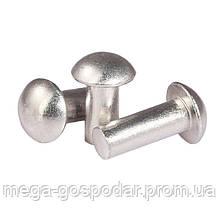 Заклепки под молоток 3х4 алюминиевые с полукруглой головкой