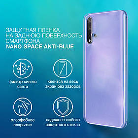 Гидрогелевая пленка для iPhone 11 Pro Max  Anti-Blue противоуданая на заднюю поверхность | Полиуретановая
