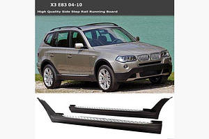 Боковые пороги (2 шт., алюминий) - BMW X3 E-83 2003-2010 гг.