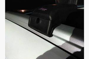 Поперечный багажник на интегрированые рейлинги (с ключем) Черные - BMW X3 E-83 2003-2010 гг.