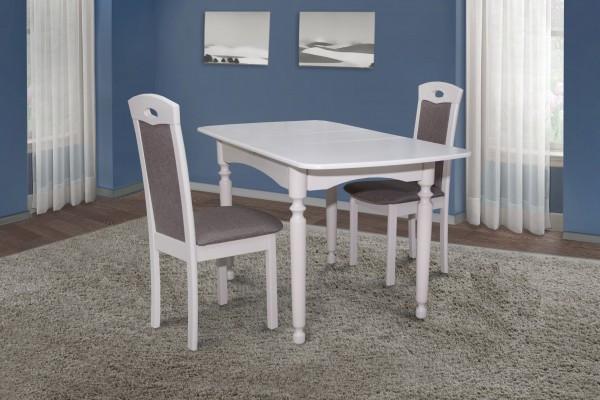 Стол обеденный белый на кухню Кельн Модуль Люкс. Стол  Поло