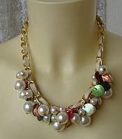 Ожерелье женское колье модное ювелирная бижутерия 4176, фото 1