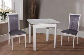 Стол обеденный со столешницей из керамической плитки Кент Модуль Люкс, цвет белый