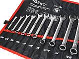"""Набор ключей дюймовых комбинированных 16 шт. Geko 1/4 """"-1,1 / 4"""", фото 3"""