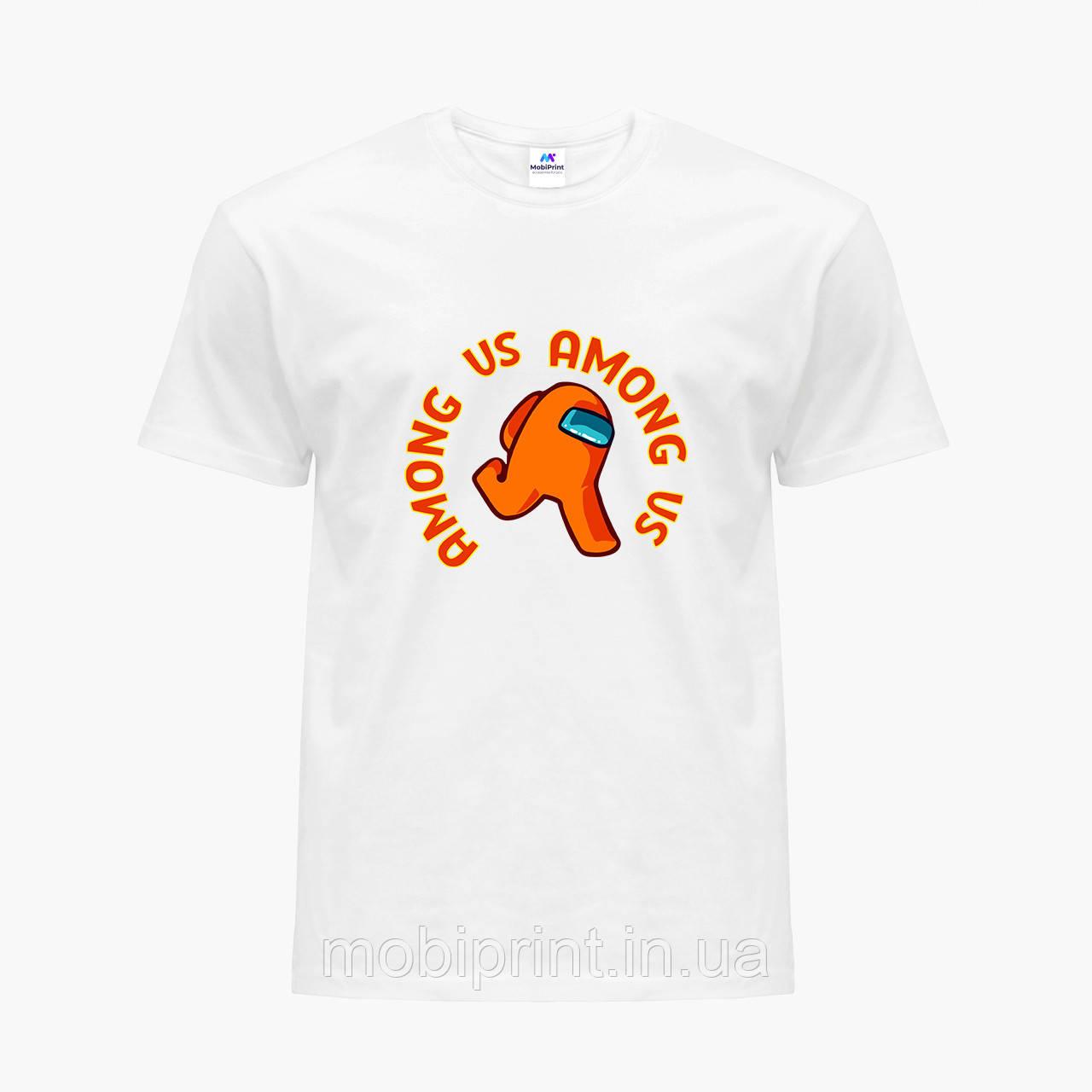 Футболка детская Амонг Ас Оранжевый (Among Us Orange) Белый (9224-2408)