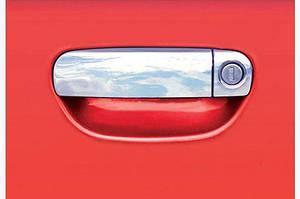 Накладки на ручки (нерж) 4 двери (водительская раздельная) - Audi A3 2004-2012 гг.