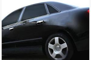 Нижние молдинги стекол (4 шт., нерж) - Audi A4 B7 2004-2008 гг.