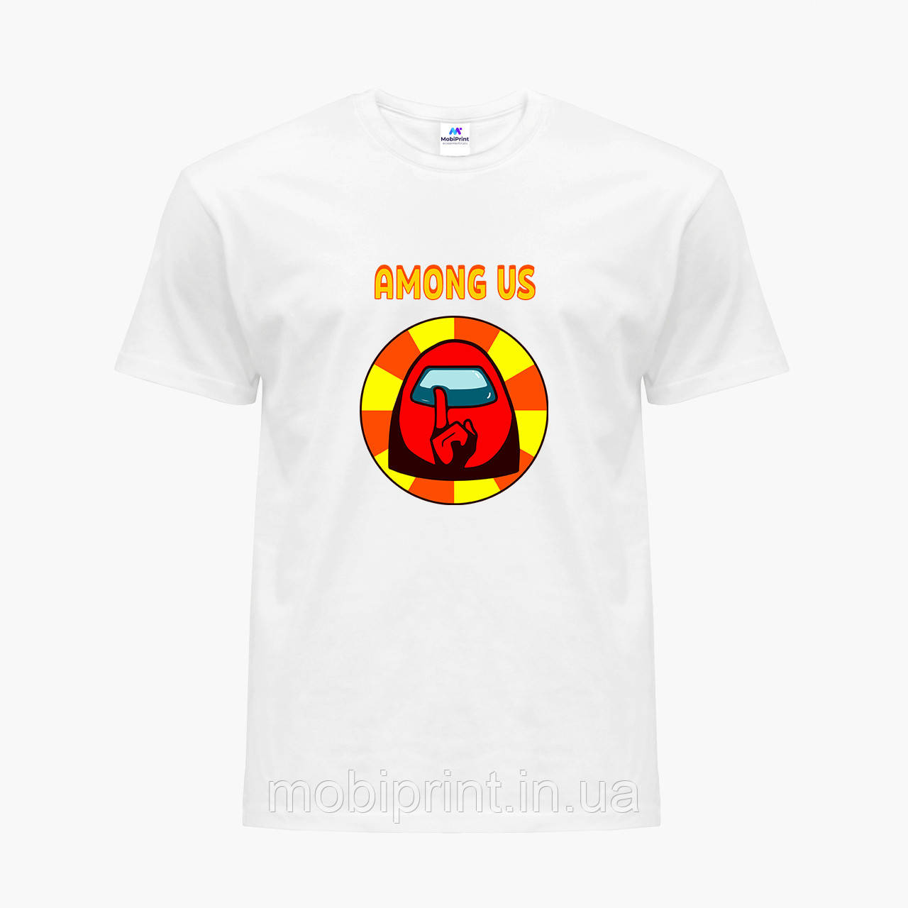 Футболка детская Амонг Ас Красный (Among Us Red) Белый (9224-2412)