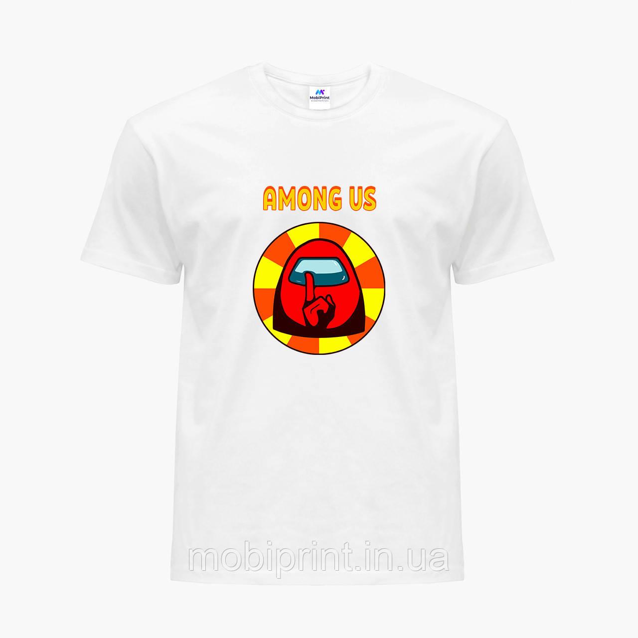 Футболка дитяча Амонг Червоний Ас (Among Us Red) Білий (9224-2412)