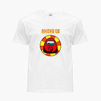 Футболка детская Амонг Ас Красный (Among Us Red) Белый (9224-2412) , фото 1
