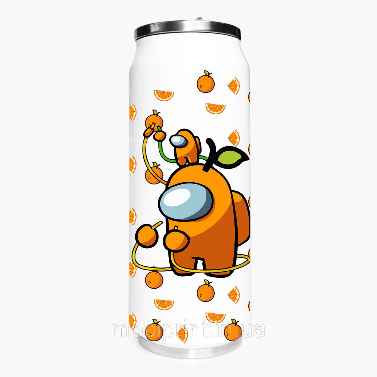 Термобанка Амонг Ас Оранжевый (Among Us Orange) 500 мл (31091-2413-1) термокружка из нержавеющей стали