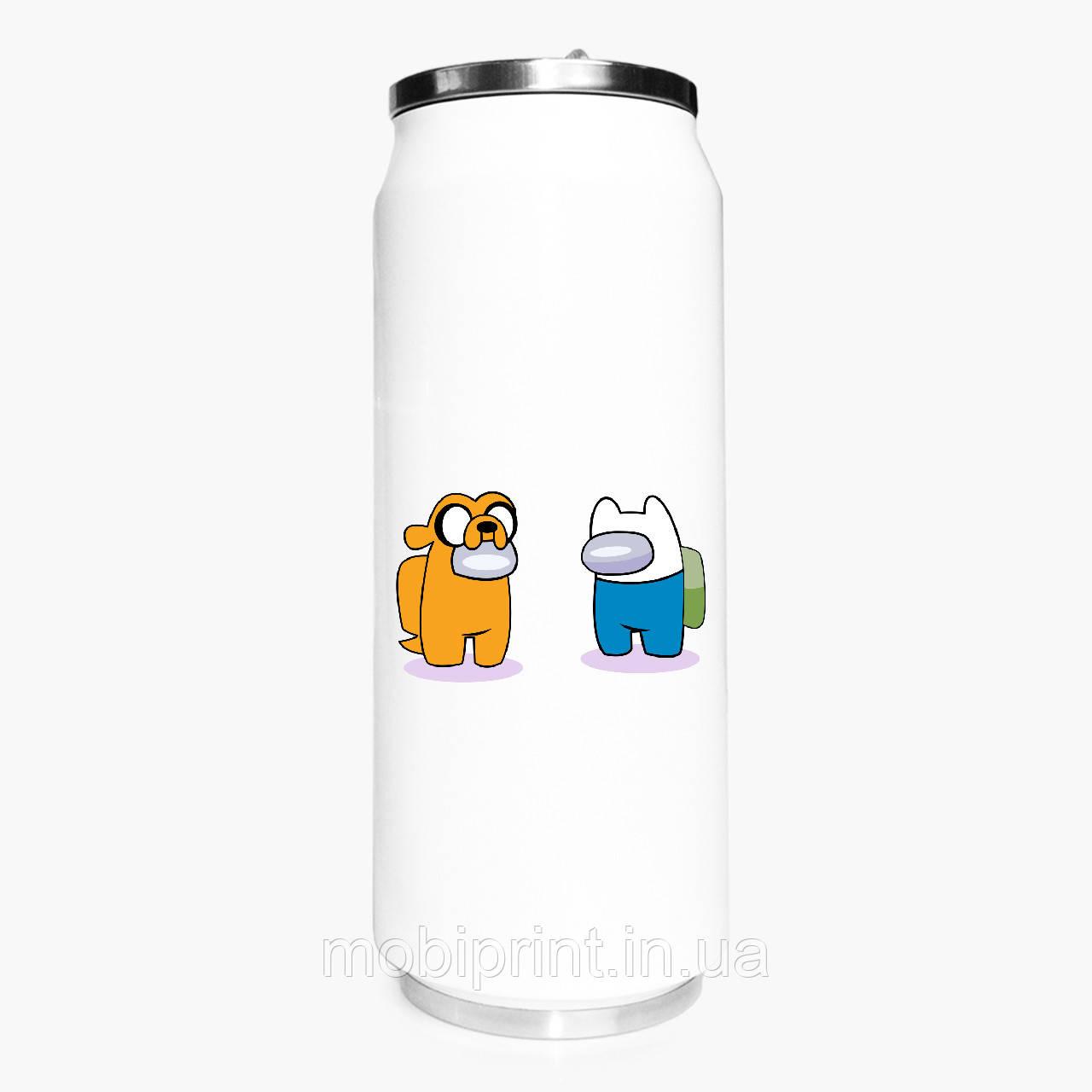 Термобанка Амонг Ас Час пригод Фін і Джейк (Among Us Adventure Time Finn & Jake) 500 мл (31091-2414-1)