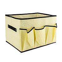 Короб косметичка из ткани 33х26х24 см