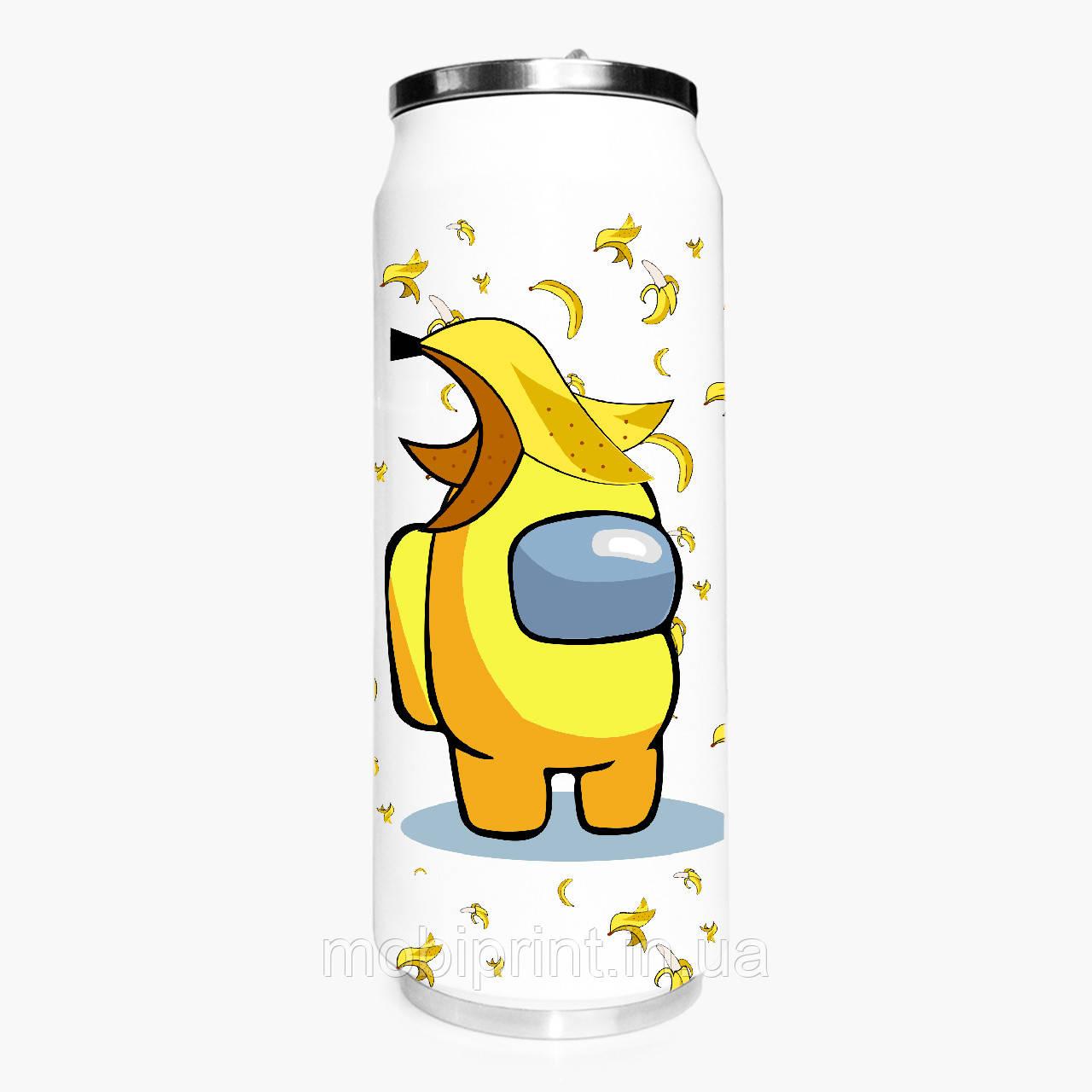 Термобанка Амонг Ас Желтый (Among Us Yellow) 500 мл (31091-2416-1) термокружка из нержавеющей стали