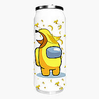 Термобанка Амонг Ас Желтый (Among Us Yellow) 500 мл (31091-2416-1) термокружка из нержавеющей стали, фото 1