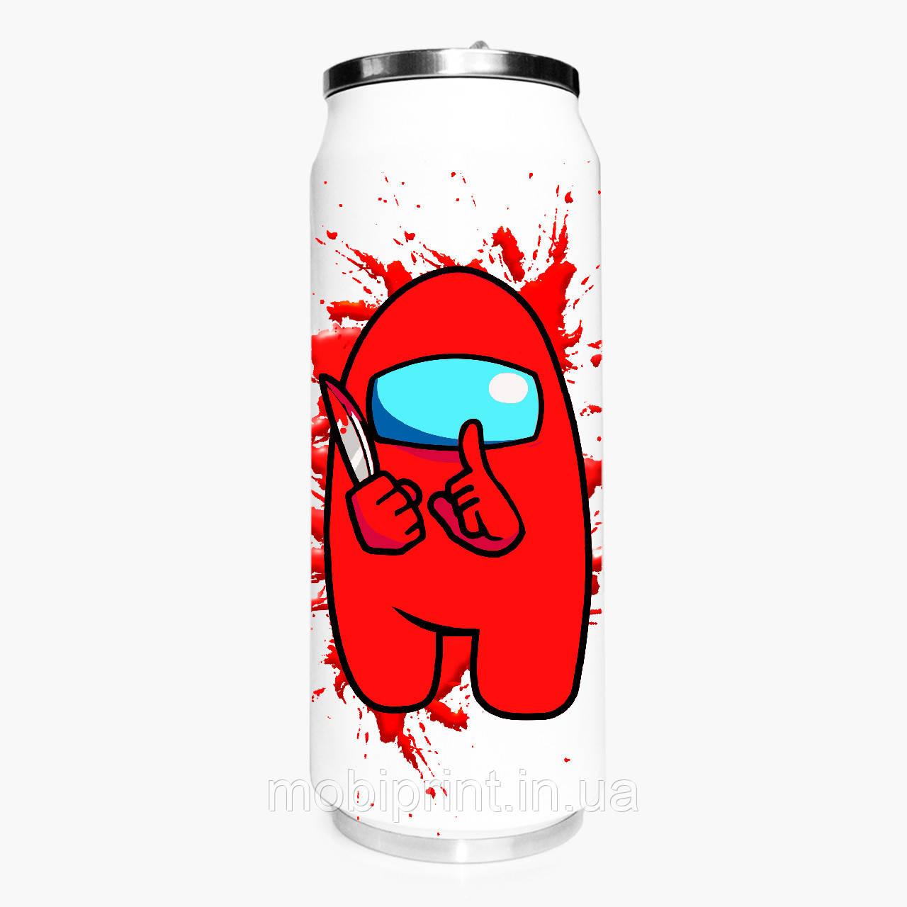 Термобанка Амонг Ас Красный (Among Us Red) 500 мл (31091-2417-1) термокружка из нержавеющей стали