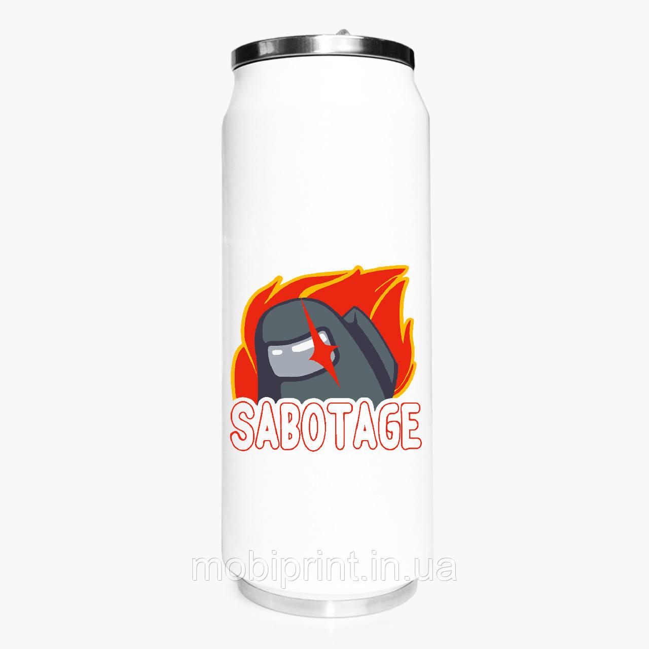 Термобанка Амонг Ас (Sabotage Among Us) 500 мл (31091-2426-1) термокружка из нержавеющей стали