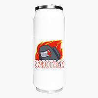 Термобанка Амонг Ас (Sabotage Among Us) 500 мл (31091-2426-1) термокружка из нержавеющей стали, фото 1