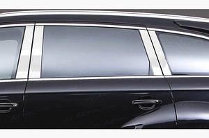 Молдинги дверных стоек (нерж.) - Audi Q7 2005-2015 гг.