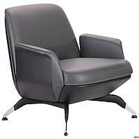 Кресло офисное кожаное AMF Absolute серое