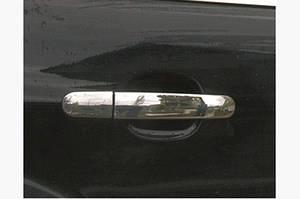Накладки на ручки (4 шт., нерж.) Без чипа, OmsaLine - Итальянская нержавейка - Ford Kuga 2008-2013 гг.