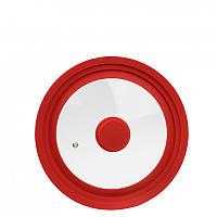 Крышка для посуды универсальная с силиконовым ободком 25,5 см