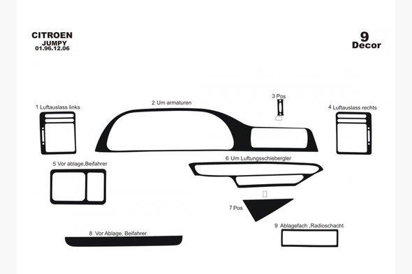 Накладки на панель (Meric) Дерево - Fiat Scudo 1996-2007 гг.
