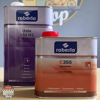 Лак акрилово-полиуретановый Roberlo Unix 250 2:1 HS, 1 л + 500 мл Комплект