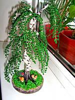 Дерево из бисера ручной работы береза