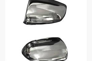 Накладки на зеркала 2006-2008 (2 шт., нерж) - Audi A6 C6 2004-2011 гг.