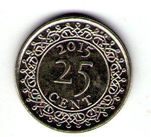 Сурінам 25 центів 2015 №245