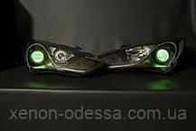 ЗЕЛЕНЫЕ Дьявольские Глазки для подсветки би-линз mini H1, G5 и других / Devil Eyes for Projector Lens (GREEN), фото 2