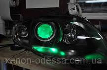 ЗЕЛЕНЫЕ Дьявольские Глазки для подсветки би-линз mini H1, G5 и других / Devil Eyes for Projector Lens (GREEN), фото 3
