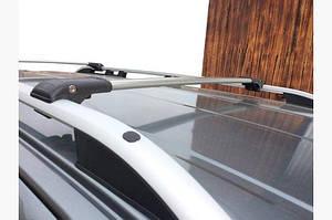 Перемычки на рейлинги под ключ (2 шт) Серый - Fiat Panda 2003-2011 гг.