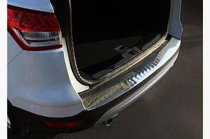 Накладка на задний бампер OmsaLine (нерж.) - Ford Kuga/Escape 2013-2019 гг.